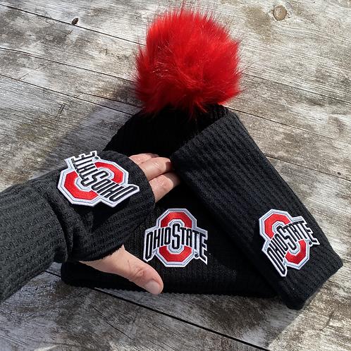 College Fingerless Gloves