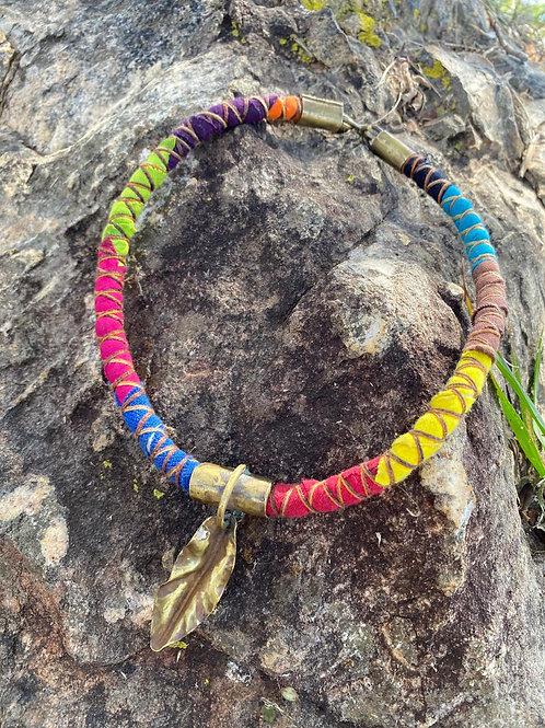 Folha no fio de algodão colorido