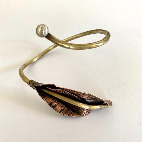 Bracelete Folha cobre