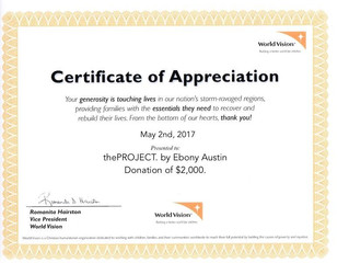 World Vision Donation from thePROJECT
