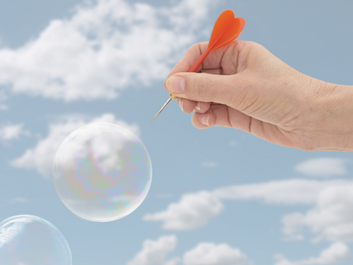 Confidence: sorry to burst your bubble!