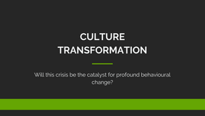 WILL THIS CRISIS BE THE CATALYST FOR PROFOUND BEHAVIORAL CHANGE?