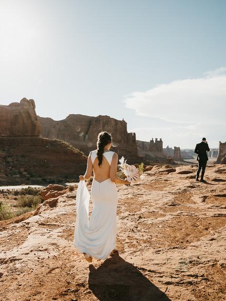 Moab Elopement - Modern, Boho Blush and White Wedding Inspo