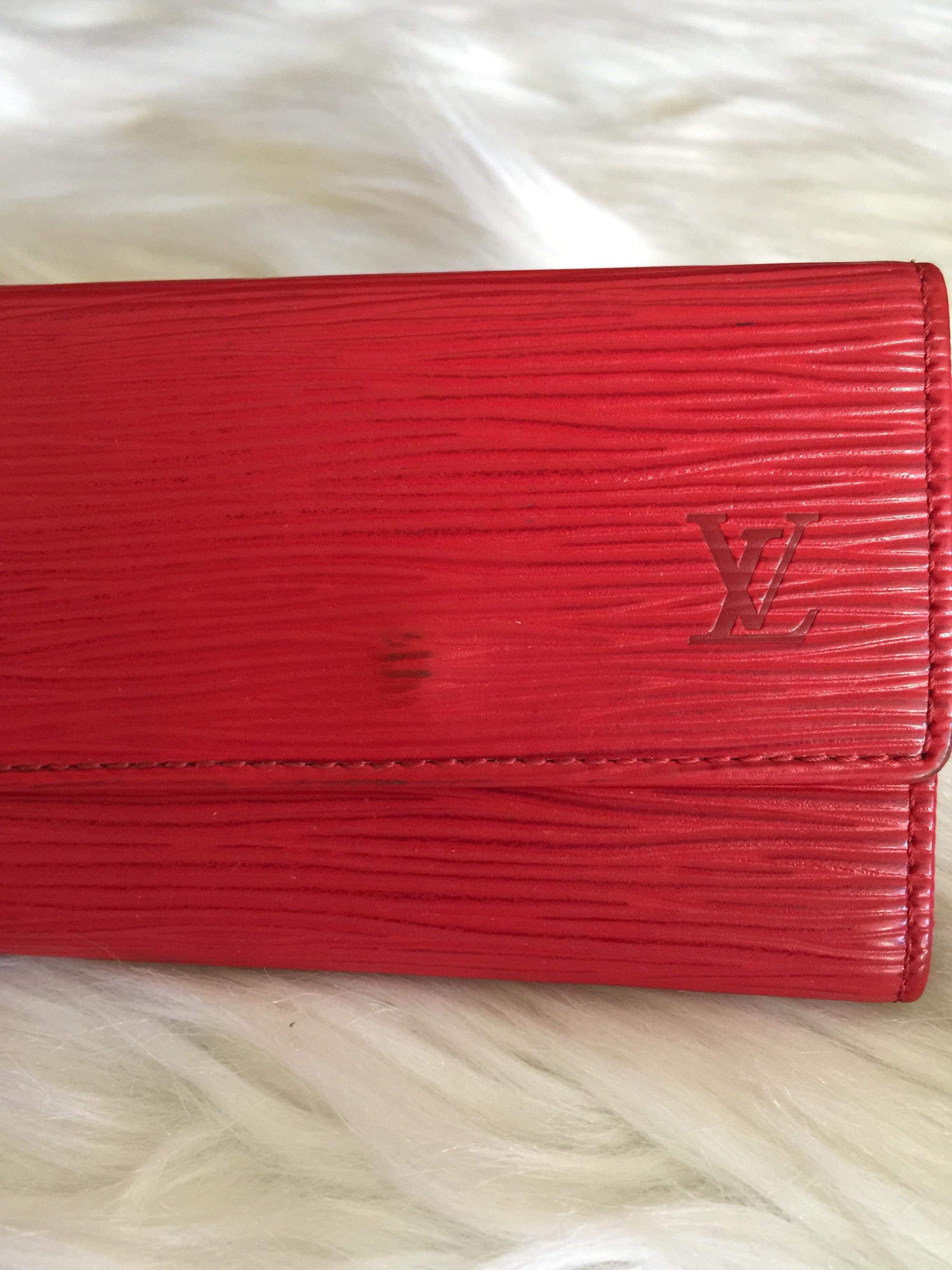 edfabb7f Louis Vuitton key holder epi red