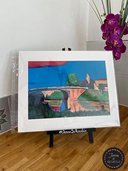 'Pont de Roubia en Couleur' Impression Photo