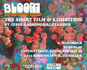 bloom, julia de la torre, jesse alexander gassongo, london, art show, movie screening, artist, illustration