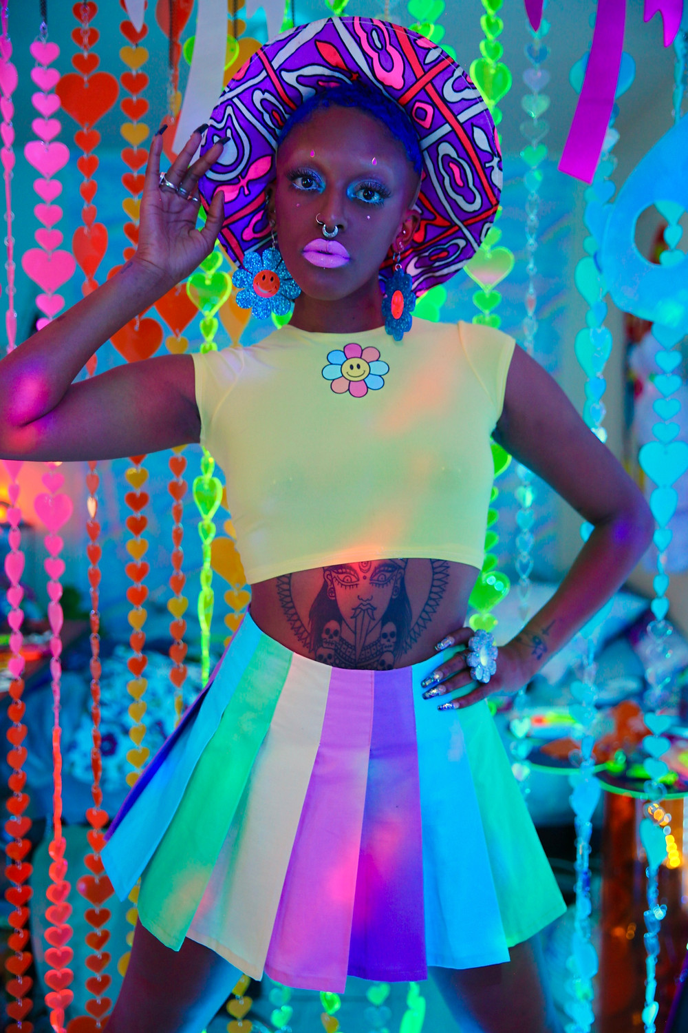 marina fini, los angeles, plexiglas, flower, aliens, happy happie, wicked hippie,  jewelry, psychedelic, colors, chakras, crystals, goddessphere, motelscape, venus, installations, fine art, interview, howl magazine, new york, stripper, lgbtq, queer, body positive, sexuality, interview