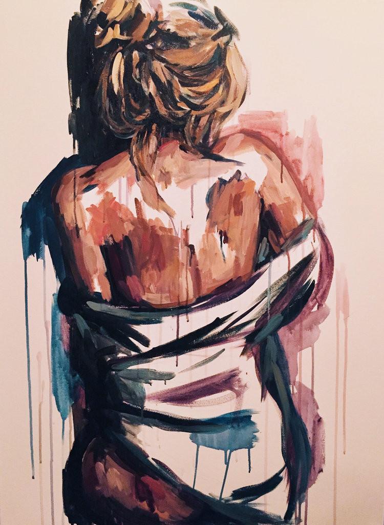 Sammy Kimura, Louisville, Kentucky, modern american art, art, artist, oil, acrylic, expressionist, modern, painting, women, female form, gay, lgbtq, Howl Magazine, Artist Feature, Interview, love, heartbreak, lust, sex, erotic art,