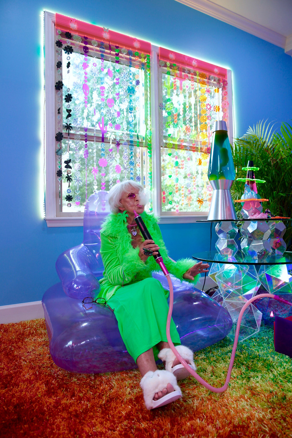 marina fini, los angeles, plexiglas, flower, aliens, happy happie, wicked hippie,  jewelry, psychedelic, colors, chakras, crystals, goddessphere, motelscape, venus, installations, fine art, interview, howl magazine, new york, stripper, lgbtq, queer, body positive, sexuality, interview, baddie winkle,