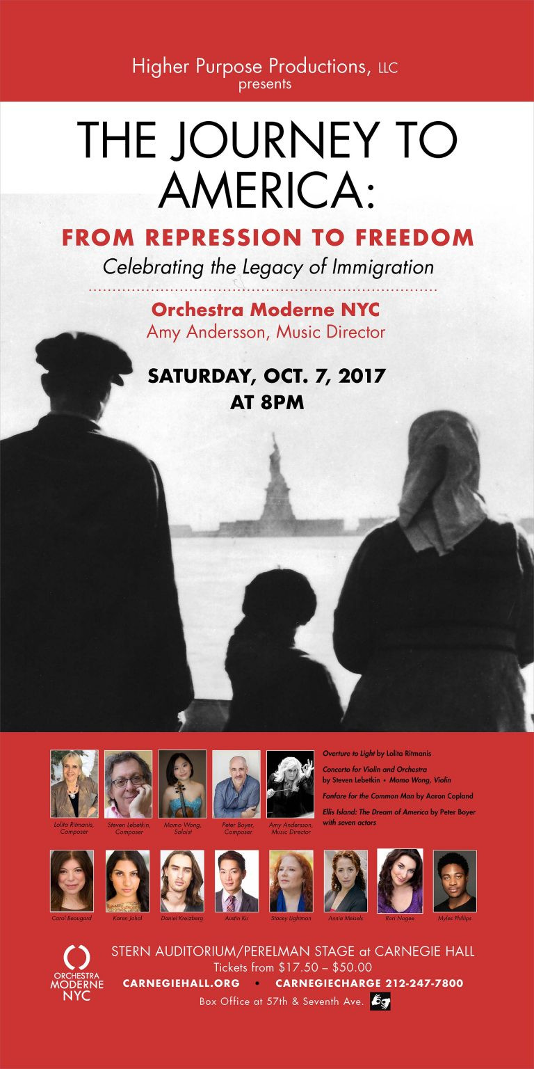 the journey to america, repression, freedom, legacy, immigration, latvia, austria, musician, music, composer, classical music, lolita ritmanis, amy andersson, women in music, nyc events, carnegie hall, orchestra moderne nyc, october events, emmy nominated, lolita, grammy, conductor, howl magazine, nyc, new york