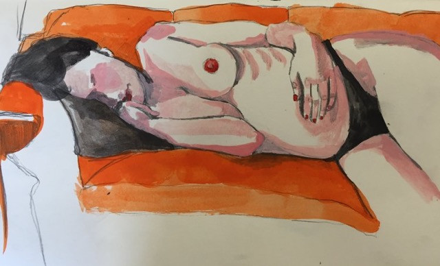 lily jane brown, painter, oil paint, painting, howl magazine, interview, artist feature, nude, human nude, women, feminism, american art