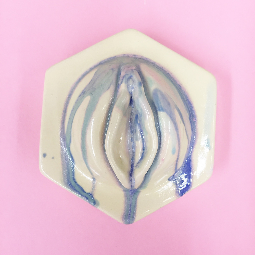 jen dwyer, ceramic, porcelain, pussy, feminism, vagina, dont grab my pussy, paris, brooklyn, nails, untitled space, interview, howl new york, howl magazine, nyc, sculpture, tiles