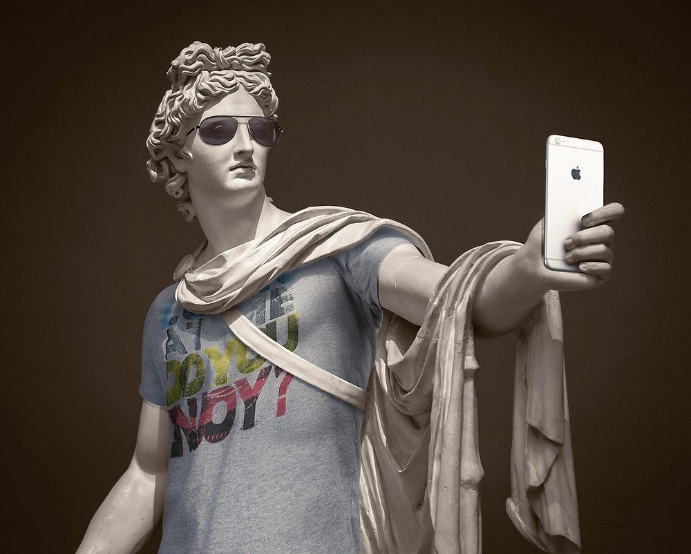 sculpture, classical, modern, art, artist, howl magazine, sculptors you should know, new york, art, fine art, leo caillard, photographer, hipsters in stone, dressed sculptures, marble, funny
