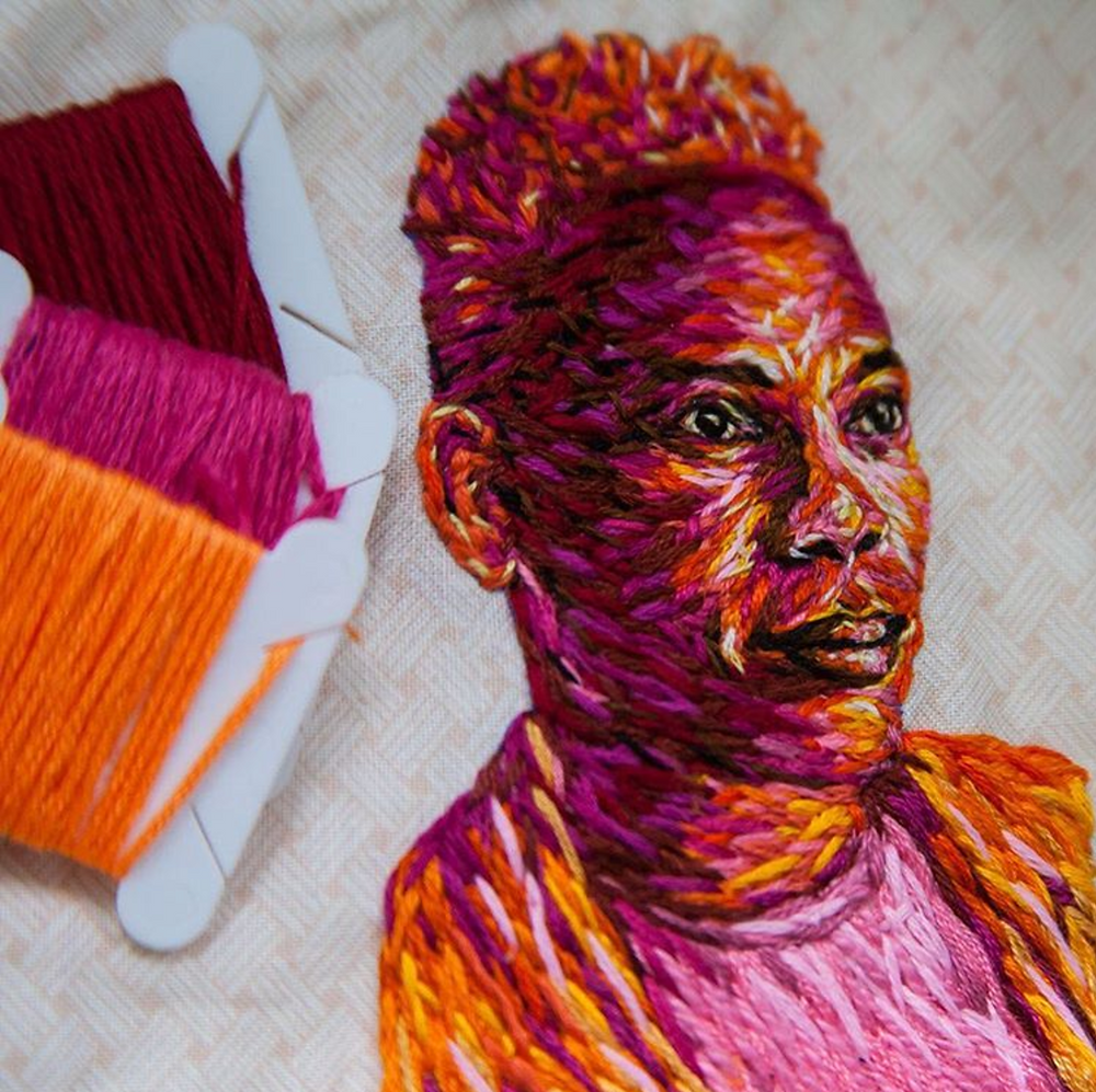 danielle clough, fiance_knowles, sewing, embroidery, impressionism, color, string, art, south africa, howl magazine, new york, nyc