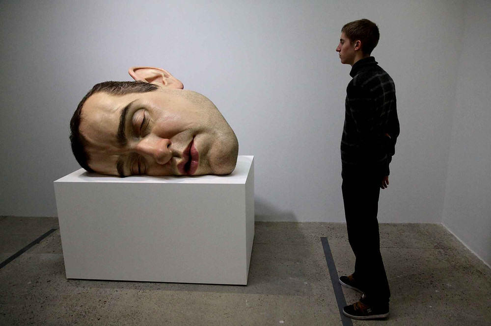 sculpture, classical, modern, art, artist, howl magazine, sculptors you should know, new york, art, fine art, Ron mueck, australian artist, hyperrealist, detail, oversized sculpture, human
