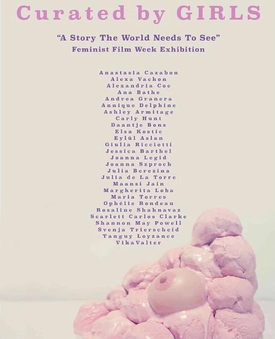 curated by girls, laetitia duveau, julia de la torre, berlin, berlin feminist film week, puta, all bodies, art show, art work, artist, nyc,