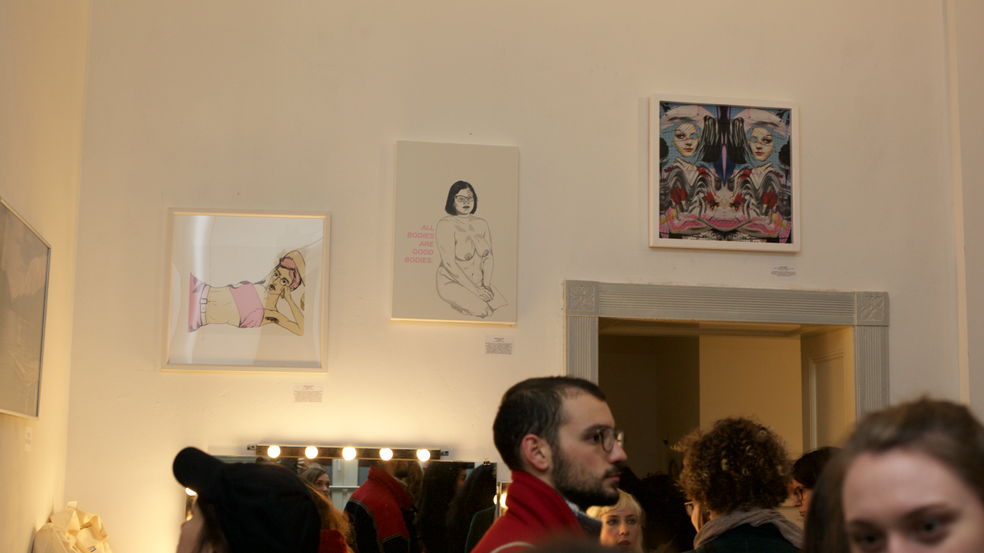 "Freer in Berlin and New Femininity: New York City based artist Julia de la Torre 's illustrations on display ""Angel BB"", ""All Bodies are good Bodies"" , ""Puta"""