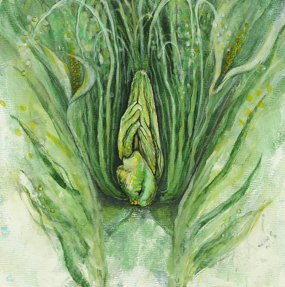 Jacqueline Secor, Painting Vulvae, vagina, vulva, body dysmorphia, diversity of nature, feminism, art show, interview, feature, howl magazine, new york, nyc, biology, painting, sculpture, painter, woman, nature