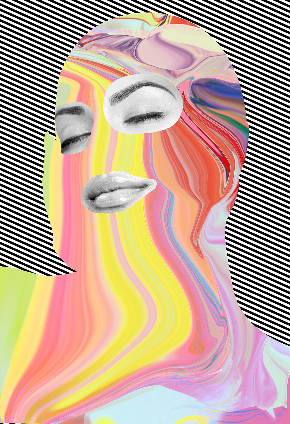 howl magazine, new york, art, interview, tyler spangler, pop art, modern, collage