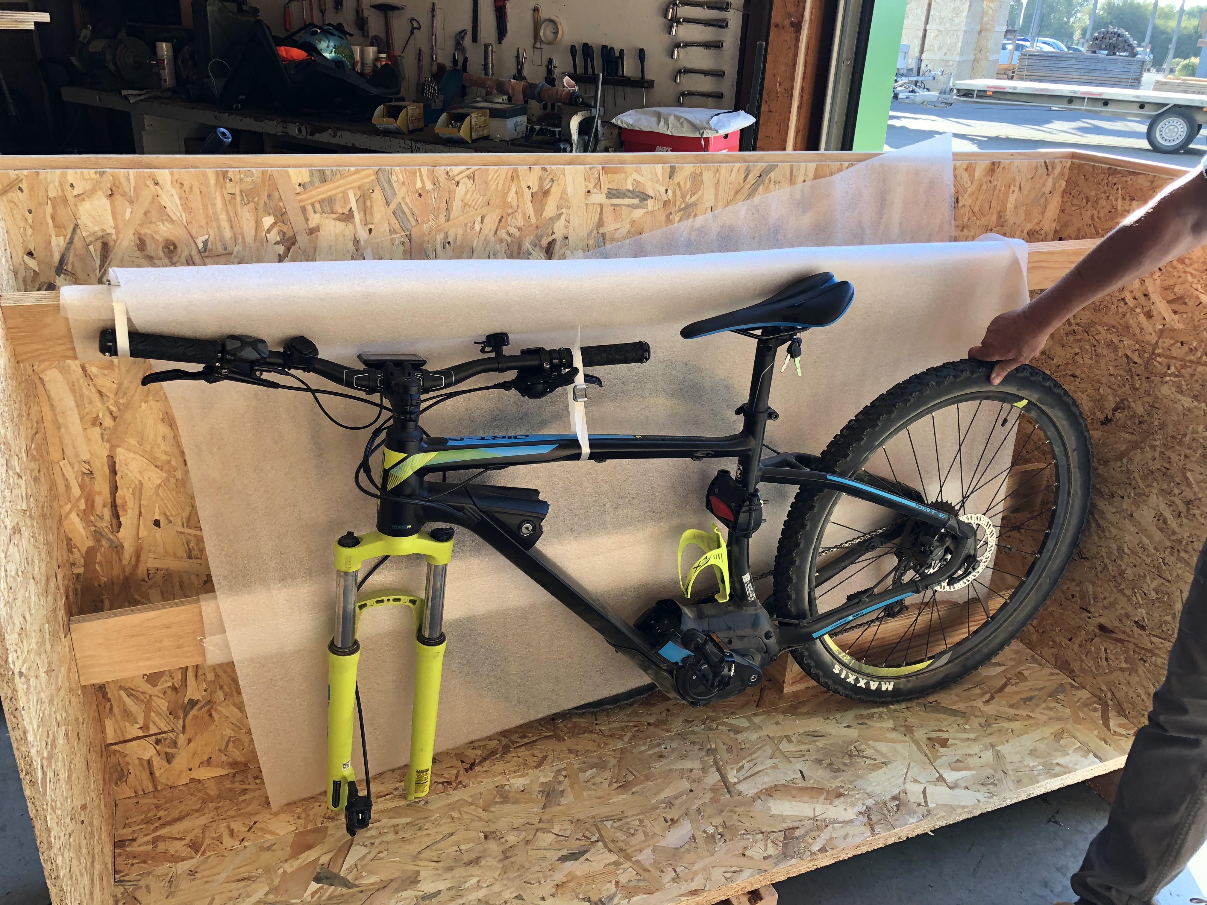 Mise en caisse vélo