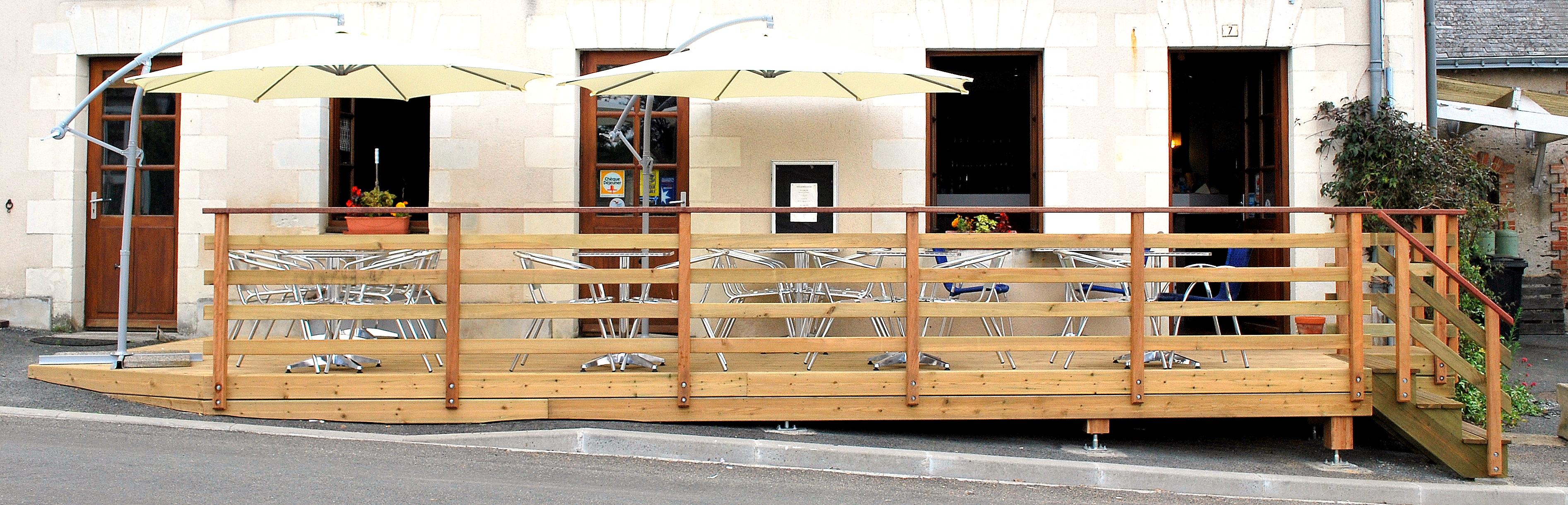 Terrasse en Pin Blanc Classe 4 PEFC.
