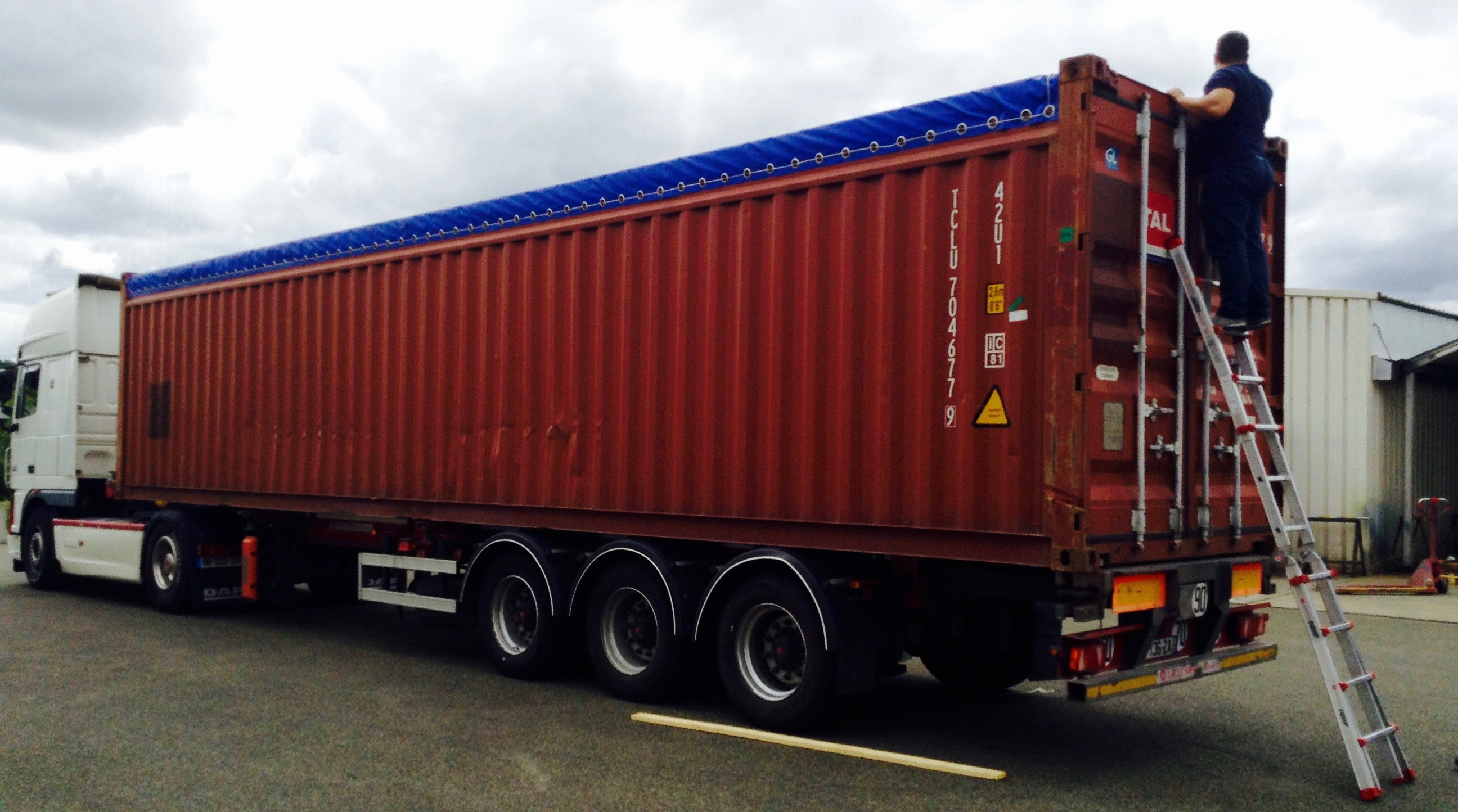Calage et mise en container