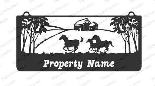 Running Horse Farm Sign
