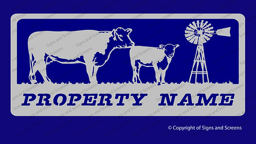 Cow and Calf Farm Sign 2