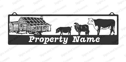 Homestead with Farm Animals