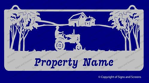 Tractor Farm Sign