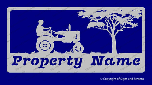 Tractor Farm Sign 2