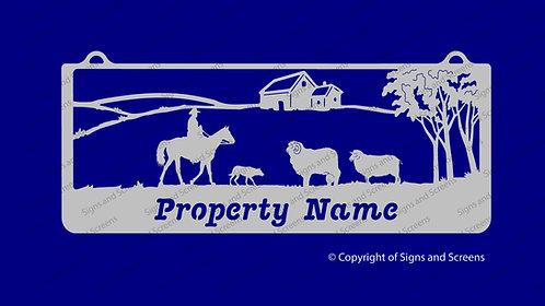 Stockman, Sheep and Dog Farm Sign