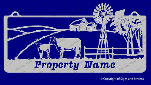 Cow and Calf Farm Sign 1