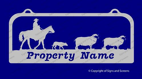 Mustering Sheep Sign