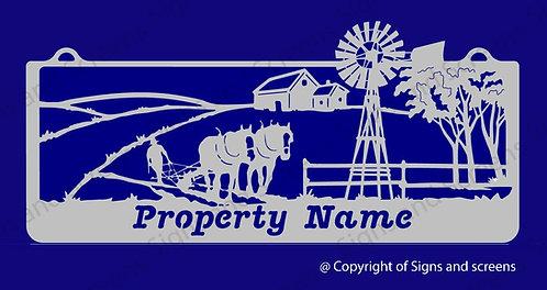 Plough Farm Sign