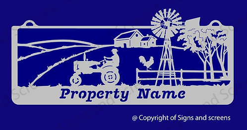 Tractor Farm Sign 3