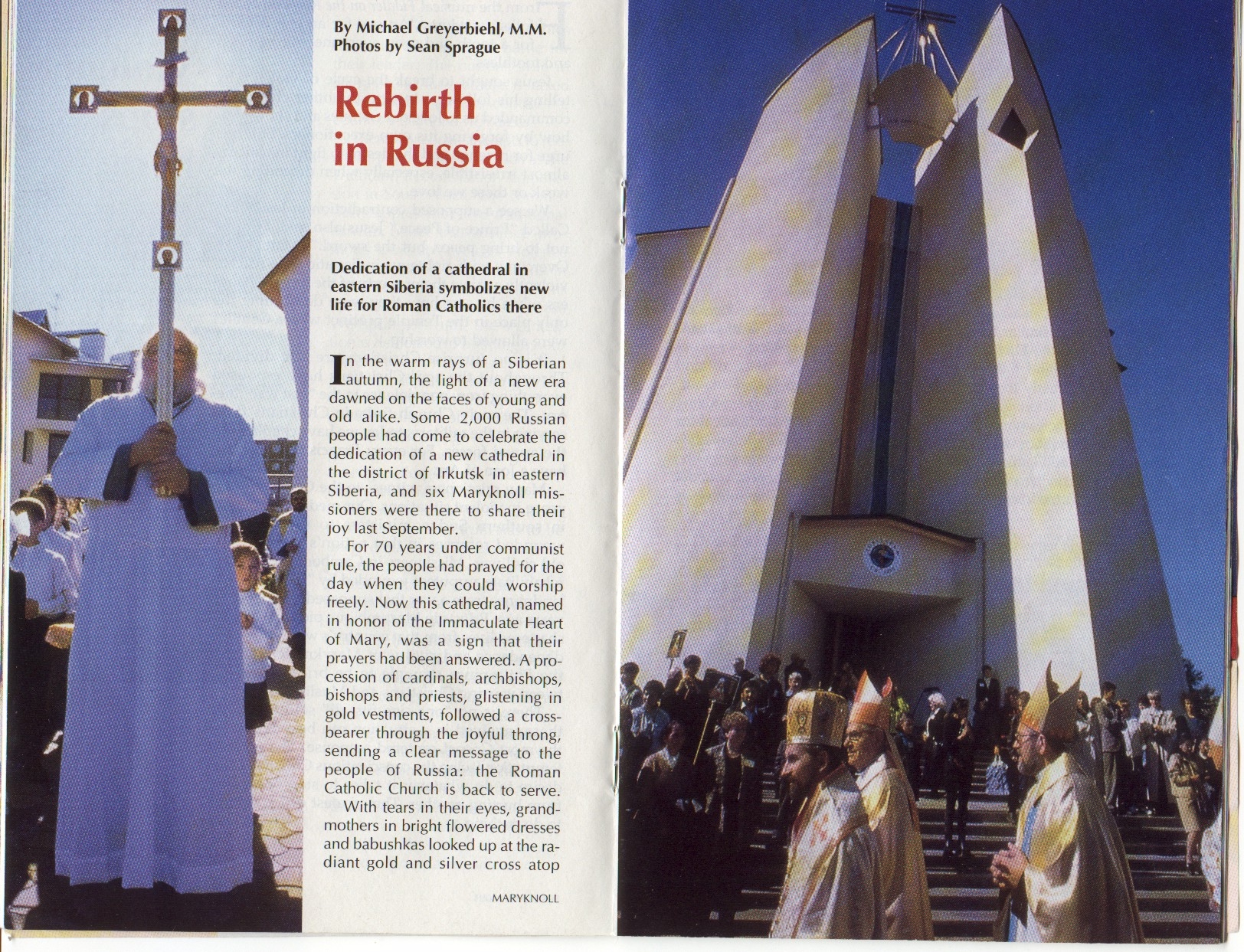 RUSSIA Carrying Cross in streets