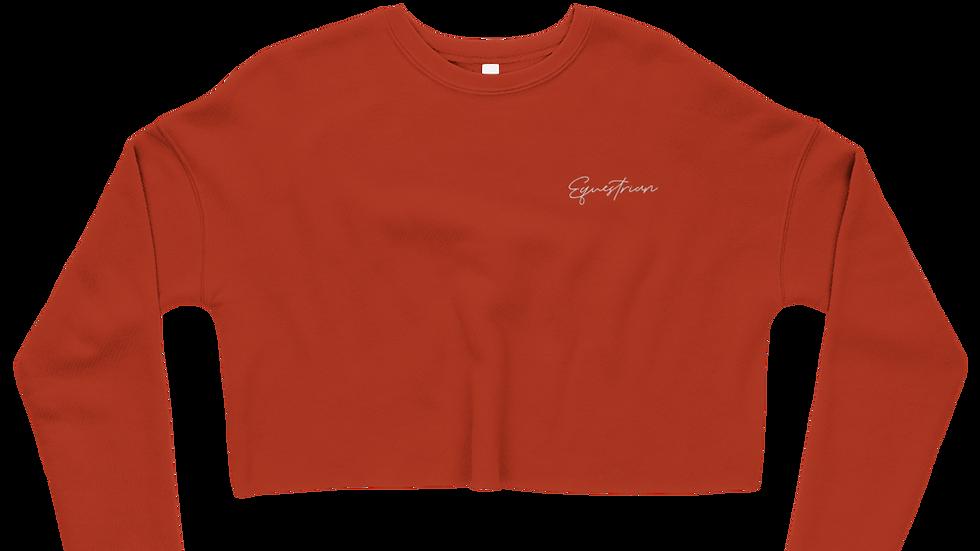 """""""Equestrian"""" Crop Sweatshirt"""