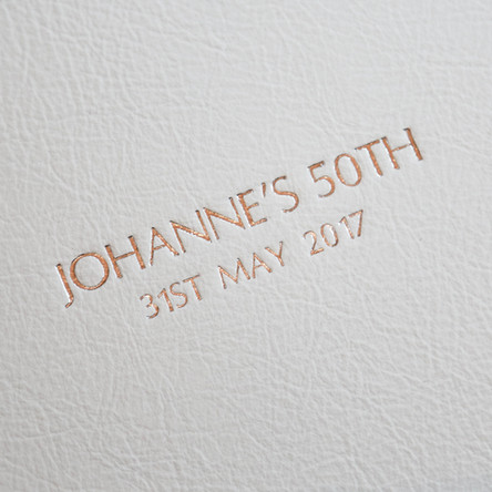 Pressed Gold Embossed Writing
