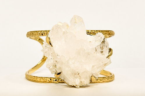 Divine Goddess Quartz Crystal Cluster Cuff