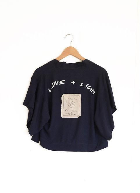 Love + Light crop jacket - navy