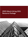 CREO march hiring 2021 resourc package