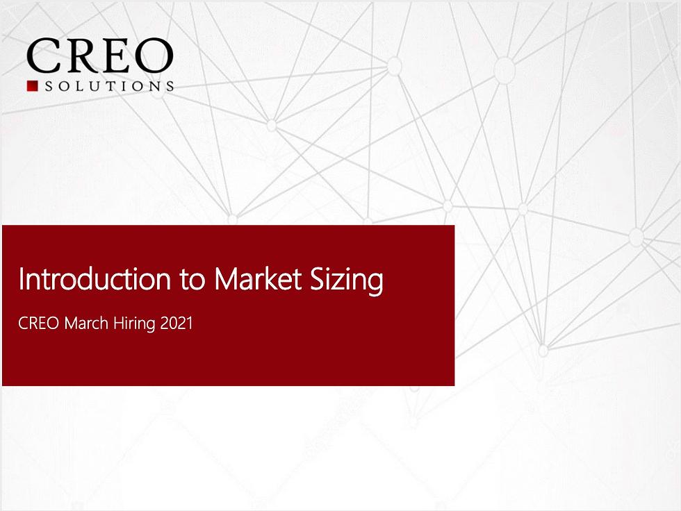 Introduction to market sizing