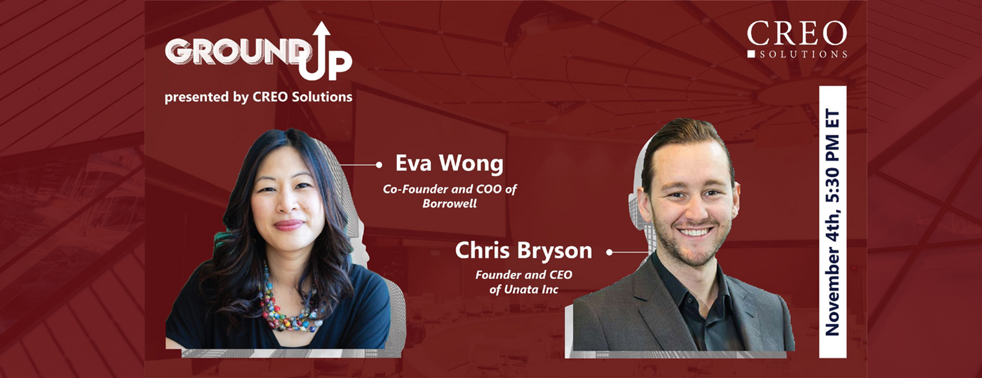 GROUND UP SPEAKER: Eva Wong & Chris Bryson