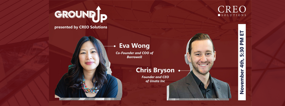 GROUND UP SPEAKER: Eva Wong & Chris Bryson
