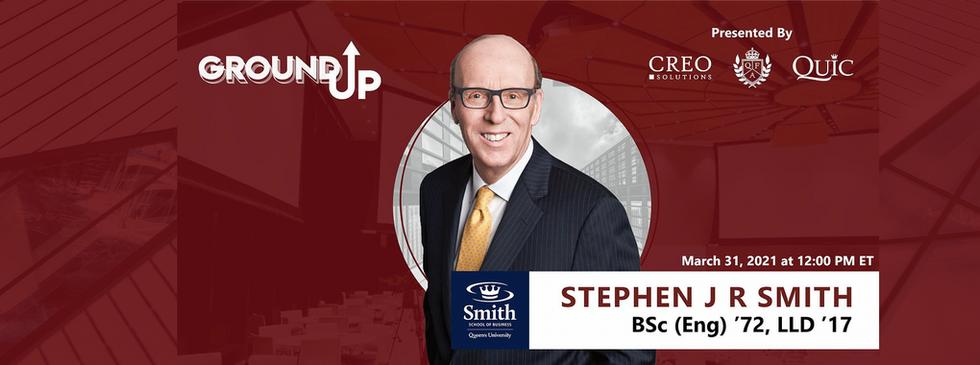 GROUND UP SPEAKER: Stephen J. R. Smith