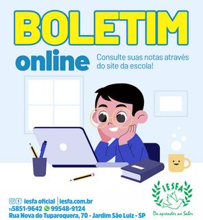 Boletim online!