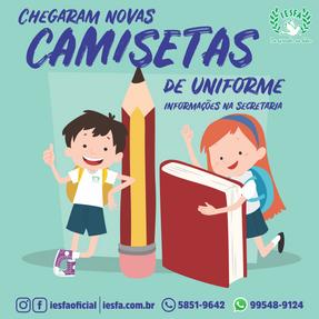 AS CAMISETAS CHEGARAM!