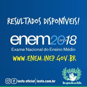 Notas ENEM 2018!