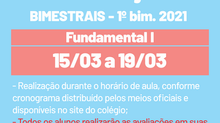 Provas bimestrais - Fundamental 1